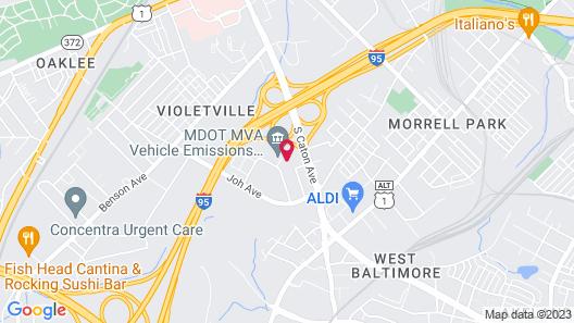 Rodeway Inn Baltimore - Inner Harbor South Map