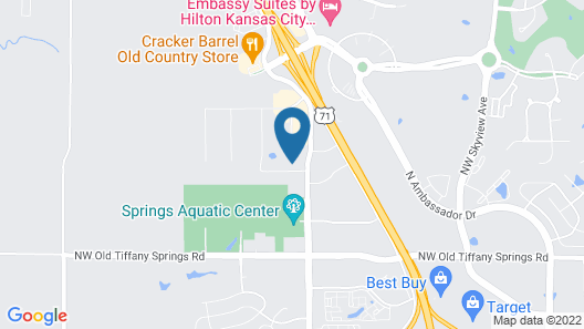 Extended Stay America - Kansas City -Airport-Tiffany Springs Map