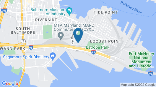 Courtyard by Marriott Baltimore Downtown/McHenry Row Map