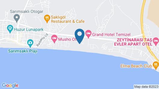 Nora Beach Otel Map
