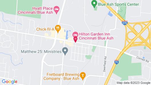 Hilton Garden Inn Cincinnati Blue Ash Map