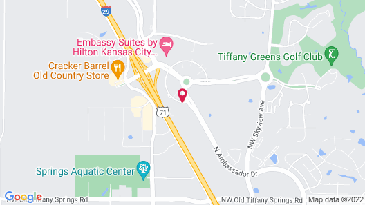 Home2 Suites by Hilton KCI Airport Map