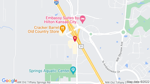 Sonesta Select Kansas City Airport Prairie View Map