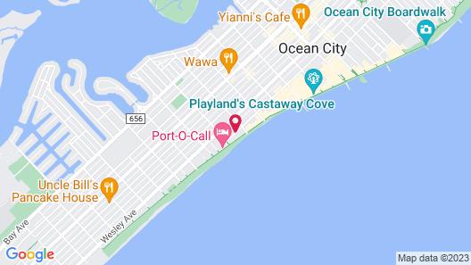 Ocean Front Motel Map
