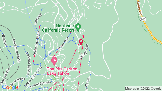Tahoe Mountain Lodging Map