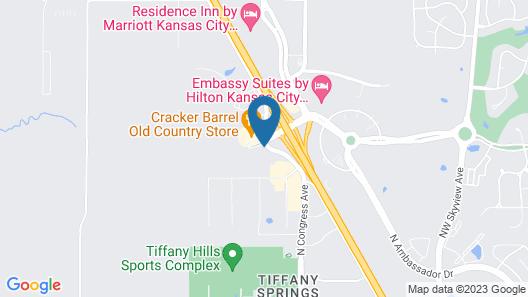 Sonesta Select Kansas City Airport Tiffany Springs Map