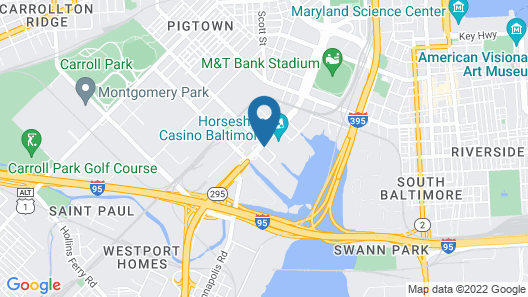 Holiday Inn Express Baltimore At The Stadiums Map