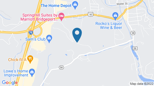 SpringHill Suites Bridgeport Clarksburg Map