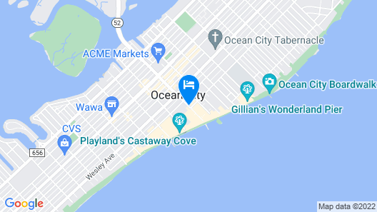 The Coral Sands Motel Map