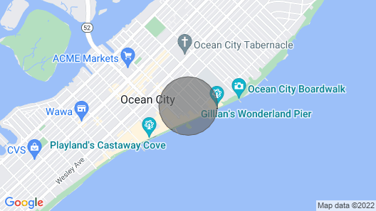 NJ TAX Exempt! 1st Property Off Boardwlk! 100% New 2br, 2BA Behind OC Water Park Map