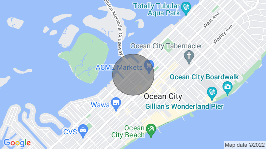 Walk TO THE Beach/cozy Shabby Chic Single Family Home/pet Friendly/ Fenced Yard Map