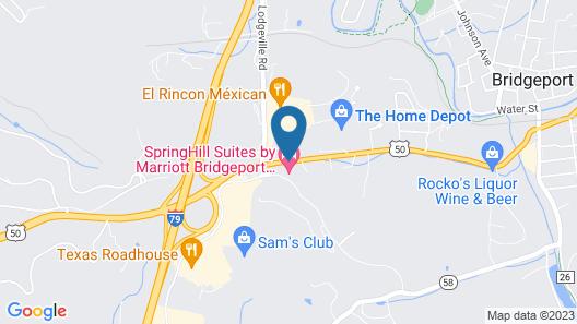 TownePlace Suites Bridgeport Clarksburg Map