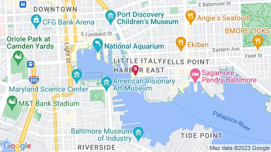 Four Seasons Hotel Baltimore Map
