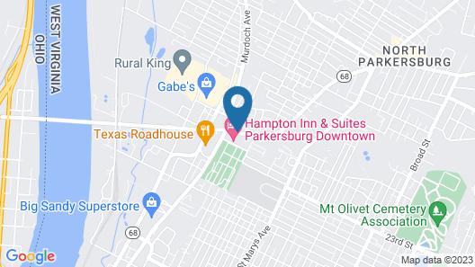 Hampton Inn & Suites Parkersburg Downtown Map