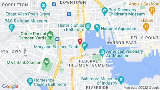 Royal Sonesta Harbor Court Baltimore Map