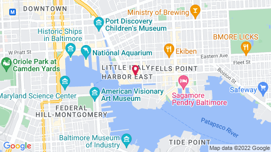 Courtyard by Marriott Baltimore Downtown/Inner Harbor Map
