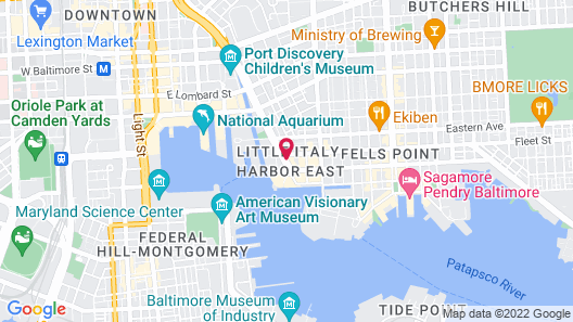 Homewood Suites by Hilton Baltimore Inner Harbor Map