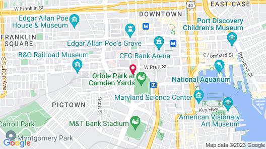 Hampton Inn Baltimore-Downtown-Convention Center Map