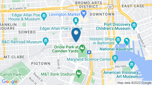Heaven on Baltimore Downtown Fully Furnished Apartments Map