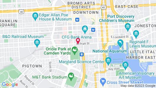 Hilton Baltimore Inner Harbor Map