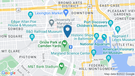 Hilton Baltimore Inner Harbor Map