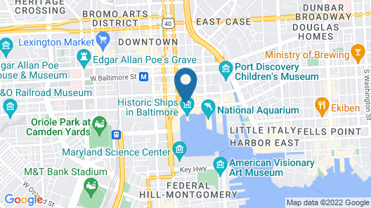 Renaissance Baltimore Harborplace Hotel Map