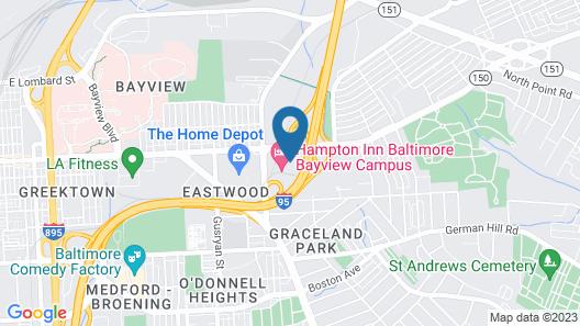 Hampton Inn Baltimore Bayview Campus Map