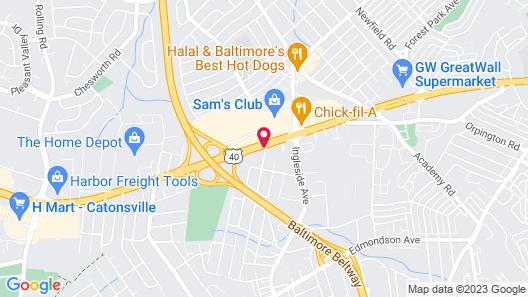 Quality Inn near Baltimore Map