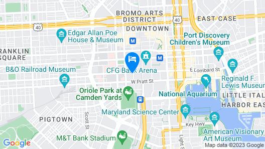 Baltimore Marriott Inner Harbor at Camden Yards Map