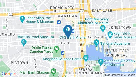 Days Inn by Wyndham Baltimore Inner Harbor Map