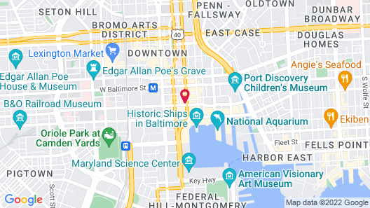 Comfort Inn & Suites Baltimore Inner Harbor Map