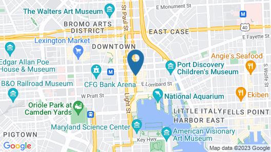 Hotel RL Baltimore Inner Harbor Map