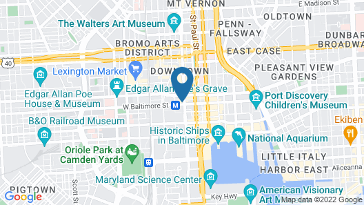 Lord Baltimore Hotel Map