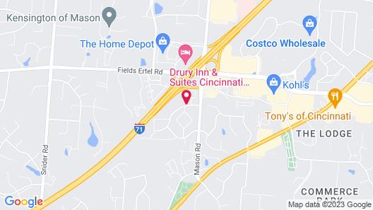 Red Roof Inn & Suites Cincinnati North - Mason Map