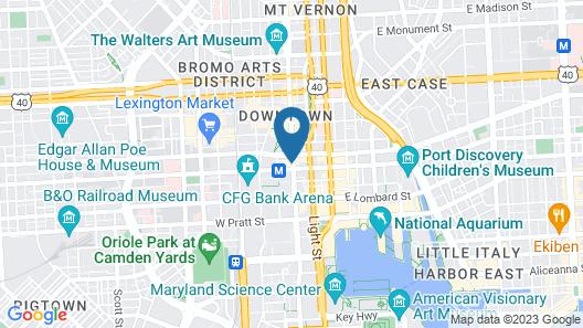 Kimpton Hotel Monaco Baltimore Inner Harbor, an IHG Hotel Map