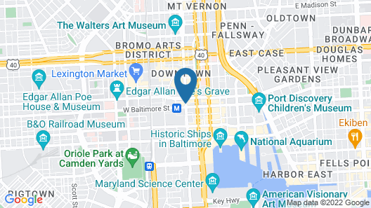 Kimpton Hotel Monaco Baltimore Inner Harbor Map