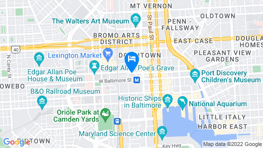Crowne Plaza Baltimore - Inner Harbor Map