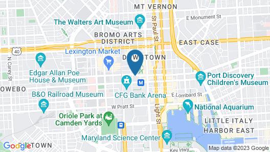 Holiday Inn Baltimore - Inner Harbor, an IHG Hotel Map