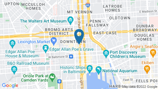 Embassy Suites Baltimore - Inner Harbor Map