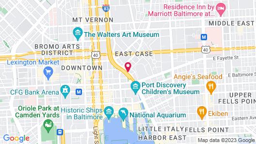 Sleep Inn & Suites Downtown Inner Harbor Map