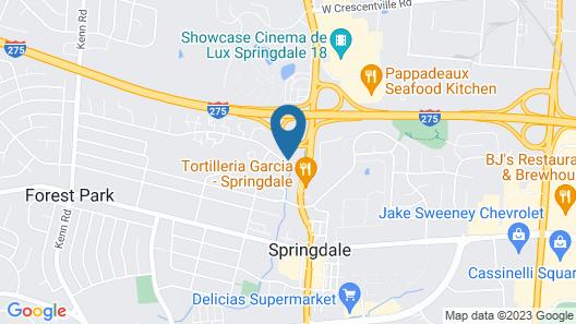 Extended Stay America Cincinnati Springdale I-275 Map
