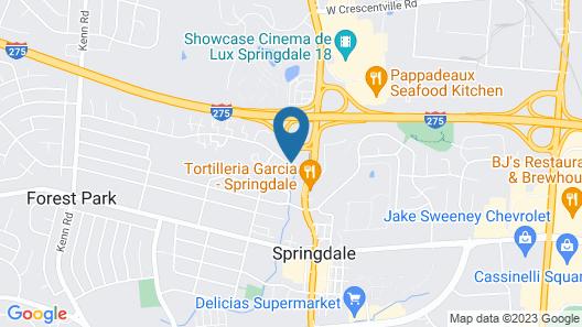 Super 8 by Wyndham Cincinnati OH Map