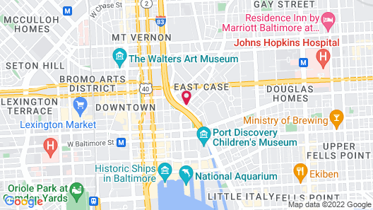 Holiday Inn Express Baltimore Downtown Map