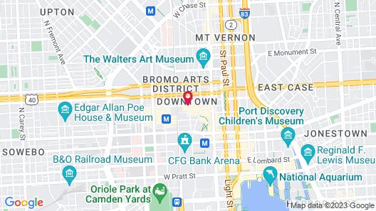La Quinta Inn & Suites by Wyndham Baltimore Downtown Map