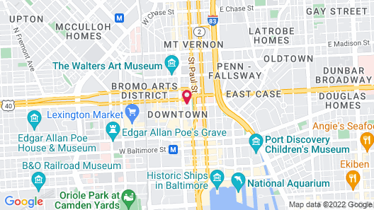Home2 Suites by Hilton Baltimore Downtown, MD Map