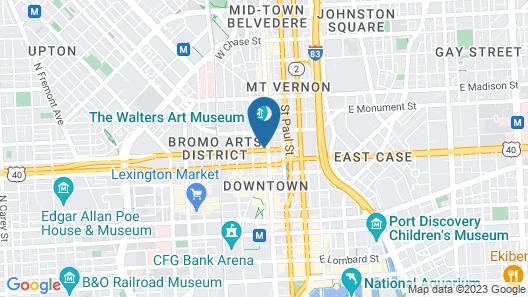 Hotel Indigo Baltimore Downtown Map
