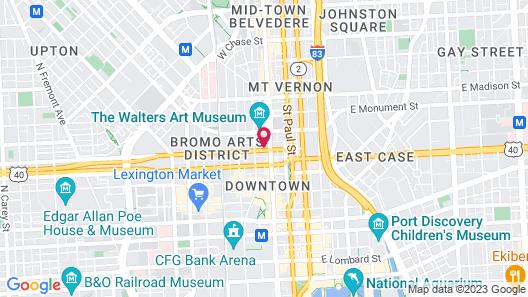 Hotel Indigo Baltimore Downtown, an IHG Hotel Map