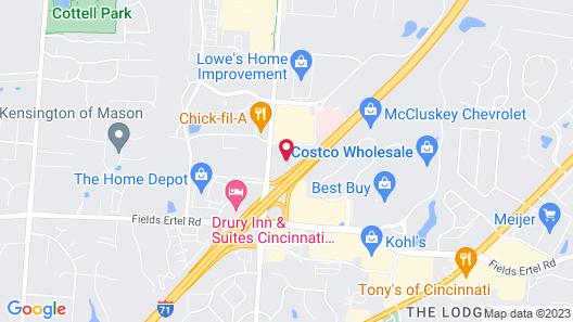 Marriott Cincinnati Northeast Map