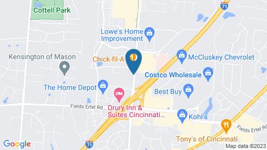 Best Western Mason Inn Map