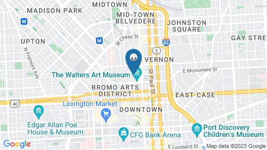 Hotel Revival Baltimore, part of JdV by Hyatt Map